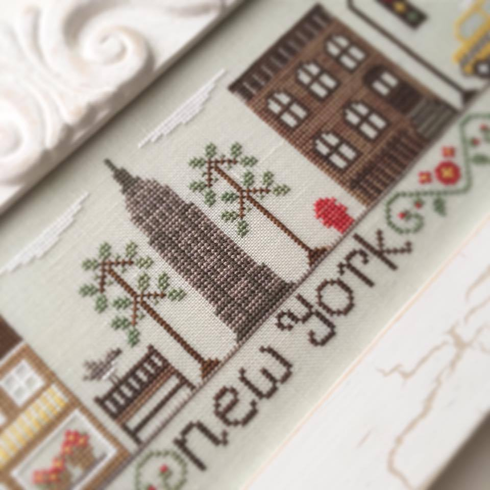afternoon in new york cross stitch chart country cottage