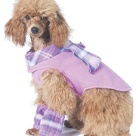 McCall's M6218 Pet Dog Vest Coat Dress Scarf Leg Warmers Clothes Pattern S-XL
