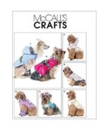 McCall's M6218 Pet Dog Vest Coat Dress Scarf Leg Warmers Clothes Pattern... - $10.99
