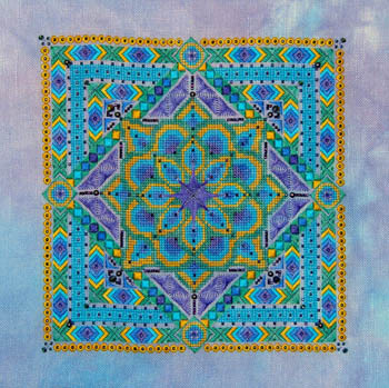SILK FLOSS PACK for Peacock Mandala cross stitch chart Northern Expressions