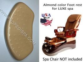 Luxe Almond Beige Foot rest spa tech hair nail pedicure manicure massage chair - $74.24