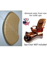 Luxe Almond Beige Foot rest spa tech hair nail pedicure manicure massage... - $74.24