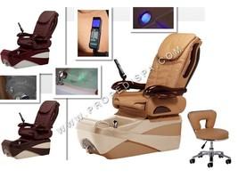 Brand New Chocolate SE massage w air seat pedicure spa chair salon -Free Stool - $2,079.00