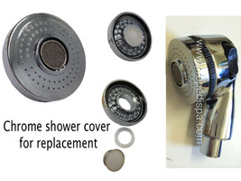 Chrome water sprayer shower head COVER only for nail salon pedicure spa chair - $12.86