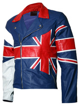 Union Jack Flag Leather Jacket for Men | LJM - $199.99