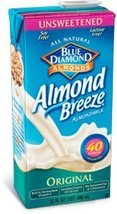 Blue Diamond Original Almond Breeze Unsweetened ( 12x32 OZ) ( Value Bulk... - $277.13