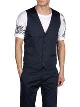 Diesel Jalvorada Men's Navy Blue Waistcoat Vest 00S1HB 0GAAG 81E $228 - $87.99