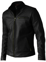 Lightweight Black Leather Jacket Men | LJM - $199.99