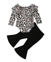 Toddler Baby Girl Clothes Leopard Off Shoulder Tube Top (2-3 Years|Leopard) - $20.36