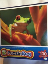 "Puzzlebug 100pc Jigsaw Puzzle ""Red-eyed Tree Frog"" - $13.99"