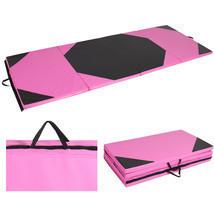 Gymnastics Gym Folding Exercise Aerobics Mats Pink Stretching Yoga Mat 4... - $106.99
