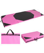 Gymnastics Gym Folding Exercise Aerobics Mats Pink Stretching Yoga Mat 4... - $2.037,32 MXN