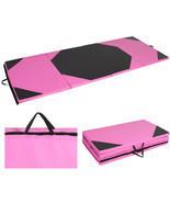 Gymnastics Gym Folding Exercise Aerobics Mats Pink Stretching Yoga Mat 4... - €90,70 EUR