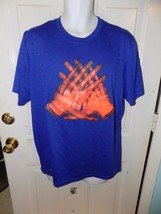 Nike Dri-Fit Blue T-Shirt X-ray Radiograph Receiver's Hands Image Size L Men's - $19.50
