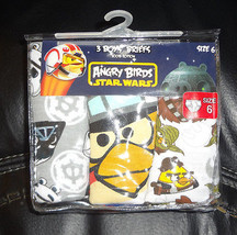 Angry Birds Star Wars  BOYS BRIEFS SIZE-4 or 6 - 3 PACK  NIP  - $10.99