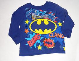BatmanToddler Boys Long Sleeve Shirt Blue Size 2T NWT - $8.19