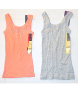 Cherokee Girls Tank Tops Shirt Gray or Peach Size XS 4-5 or S 6-6X NWT - $5.19