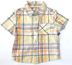 Cherokee Toddler Boys Plaid Shirt Multi Colored Full Button Front Size 2T NWT - $6.93