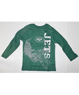 NFL Team Apparel New York Jets Boys Longsleeve T-Shirt Sizes XS 4 NWT - $12.59