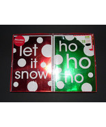Christmas cards box of 18 with  Envelopes      NIB Let it snow and  ho h... - $6.30