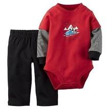 Carters Infant Boys 2pc Set Pants Outfit Size- NB ,3M NWT - $13.99
