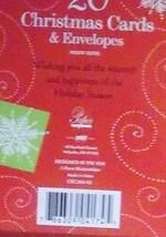 Christmas Cards Box of 20 with Envelopes Christmas Bells  NIB - $6.30