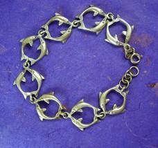 Vintage Sterling Dolphin Bracelet sea god Nautical Mythology Porpoise Co... - $80.00