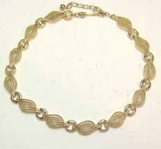 Vintage Gold Tone Necklace  Wave Design - $12.99