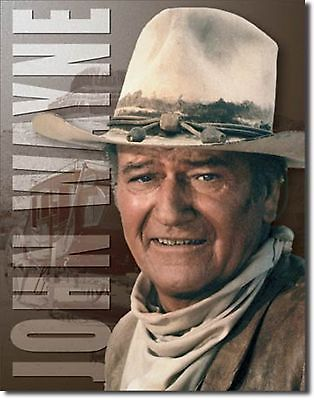 John Wayne Stagecoach Metal Sign Tin New Vintage Style USA #1188