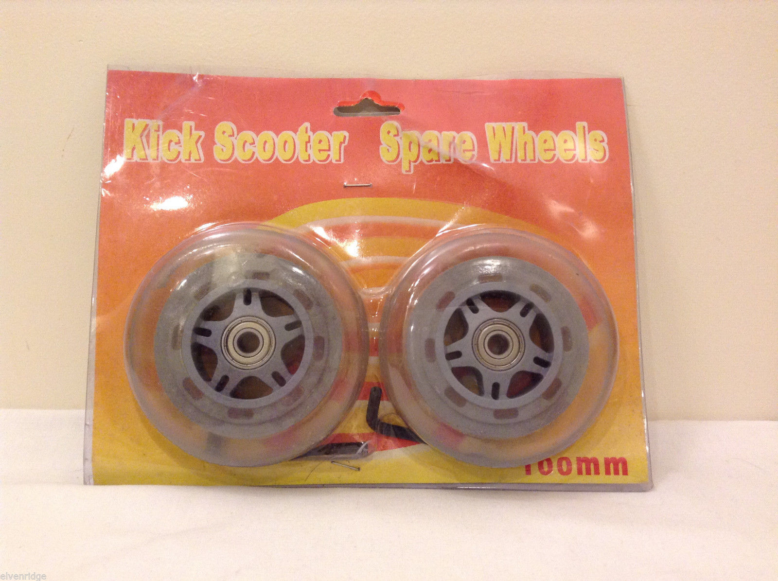 NEW Scooter Replacement Spare Wheel, Clear, 100 mm