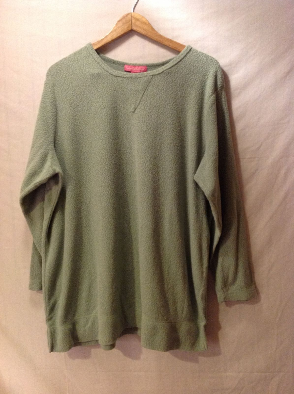 Woman Within Pastel Green Pullover Sweater, Size XL