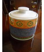 Sakura MALAGA Sugar Bowl With Lid Designed by Sue Zipkin Home Decor Unique  - $17.15