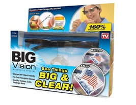 Big Vision Magnifying Glasses As Seen On TV Eyewear See 160% More Better... - $18.60