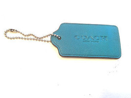 Coach NY Leather Tag Teal Large w/Silver Chain - $14.00