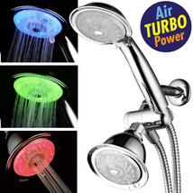 24-Setting 7-Color LED Shower Combo with AirJet Turbo Pressure-Boost Noz... - $49.99