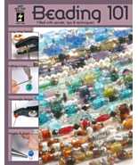 Hot Off The Press HF-2338 Beading 101 Beads & Jewelry Making Book  - $12.94