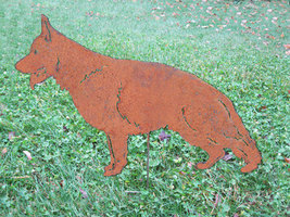 German Shepherd Garden Stake or Wall Hanging - $44.99