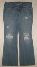 American Eagle Destroyed FAVORITE BOYFRIEND Jeans Womens Size 6 Reg - $35.99