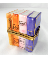 Limoges Box Stack of French School Books & Scis... - $99.00