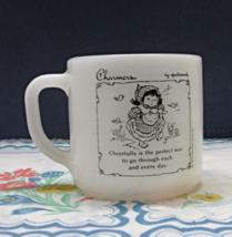 Vintage Hallmark Charmers Milk Glass Coffee Mug by Federal Glass Co. Cof... - $6.00