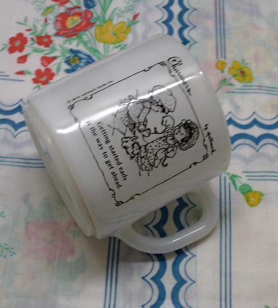 Vintage Hallmark Charmers Milk Glass Coffee Mug by Federal Glass Co. Coffee Cup