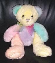 "Bears Need Hugs & Homes- First & Main SORBET Yummy Warm Pastels 12"" Tedd... - $6.25"