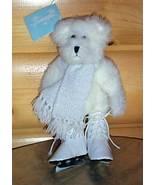 "Bears Need Hugs & Homes- Hallmark White 10"" Ice Skater with Scarf - $4.69"