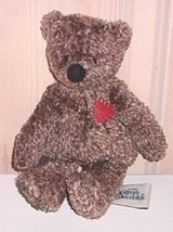 "Bears Need Hugs & Homes- Ganz Cottage by Lorraine 8"" Brown Triangle Heart Bear - $6.99"