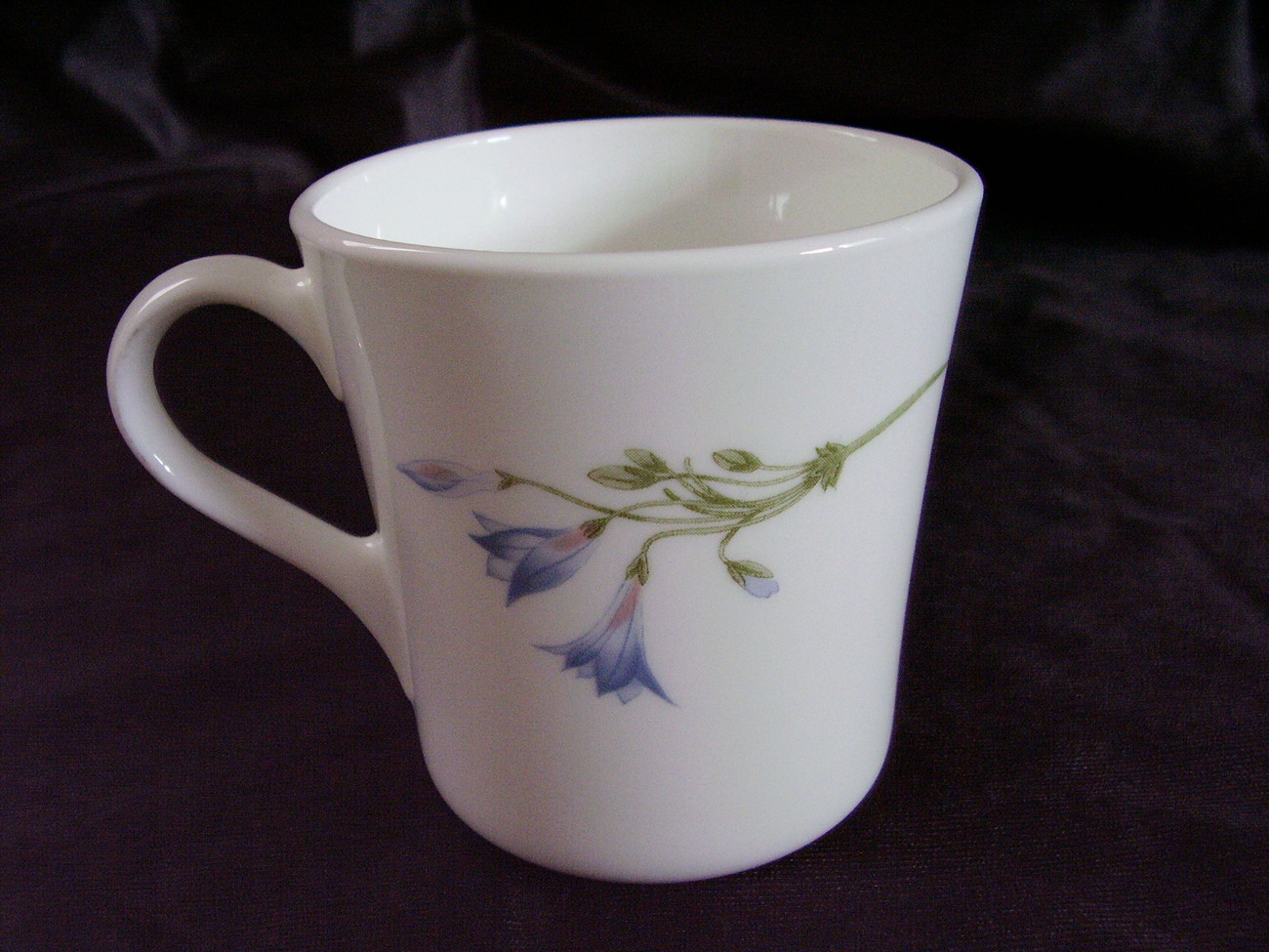 Corning Corelle Blue Dusk Coffee Cup Retired Blue Flowers