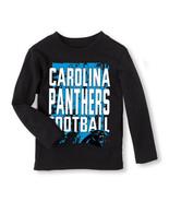 NFL Carolina Panthers  Boy or Girl Long Sleeve Shirt  Infant   6-9 M,9-1... - $12.59