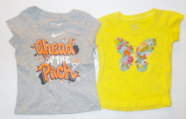Nike Infant/Toddler Girls T-Shirts Yellow Gray Sizes 12 Months, 2T or 3T... - $11.89