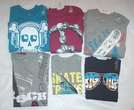 Boys Childrens Place TShirts Skateboard Skull Peace Size 4, 5-6 or 14 NWT - $9.99
