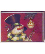 Christmas Cards Box of 20 with Envelopes Snowman and Bulb NIB - $7.27