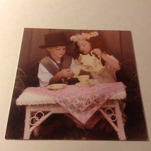 "Forget Me Not American Greetings Card BOY & GIRL TEA PARTY 5"" x 5"" NO EN... - $5.90"